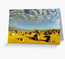 Pinnacles at sunset Greeting Card