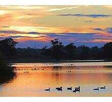 Sunset Flood Plain Photographic Print