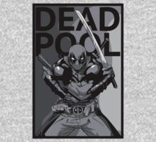 Deadpool - Pose - black and white Kids Clothes