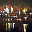 London Skyline Abstract Realism 2008 by Samuel Durkin