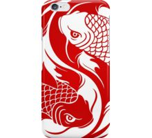 Red and White Yin Yang Koi Fish iPhone Case/Skin