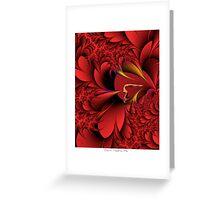 Red Fantasia Greeting Card