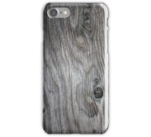 Upstate Supply Co- Wood Grain Case Dark iPhone Case/Skin