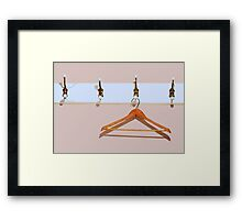 clothes hanger Framed Print