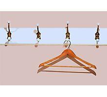 clothes hanger Photographic Print