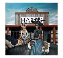 Henrietta and Sarsaparilla Ride Into Town Photographic Print