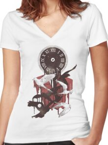 Existence in Time and Space Women's Fitted V-Neck T-Shirt