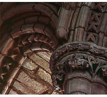 Capitals and arches Window arches in wall of church Lanercost Priory Cumbria England 19840526 0021   Photographic Print