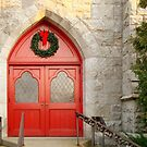 Church Doors in December by SummerJade