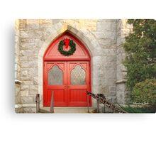Church Doors in December Metal Print