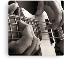Bottom End, Bass Guitar Oil Painting Canvas Print