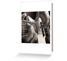 Bottom End, Bass Guitar Oil Painting Greeting Card