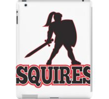 Knight Silhouette Squires Sword Shield Cartoon iPad Case/Skin