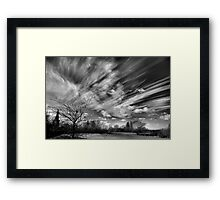 A Watched Sky Never Stops Framed Print