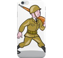 World War Two Soldier American Cartoon Isolated iPhone Case/Skin