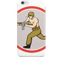 World War Two Soldier American Tommy Gun iPhone Case/Skin