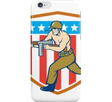 World War Two Soldier American Tommy Gun Shield iPhone Case/Skin