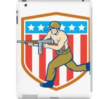 World War Two Soldier American Tommy Gun Shield iPad Case/Skin