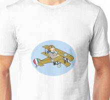Sopwith Camel Scout Airplane Cartoon Unisex T-Shirt