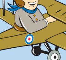 Sopwith Camel Scout Airplane Cartoon Sticker