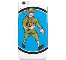 World War One Soldier British Marching Circle Cartoon iPhone Case/Skin