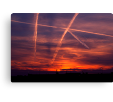 The air force plays tic tac toe with God Canvas Print