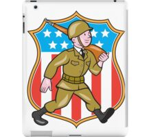 World War Two Soldier American Cartoon Shield iPad Case/Skin
