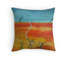 Massive Dance of the Desert Wild Women Throw Pillow