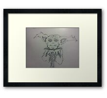 Cutie Creature (large) Framed Print