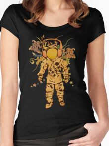 Vintage Spaceman Women's Fitted Scoop T-Shirt