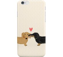 Dachshunds Love iPhone Case/Skin
