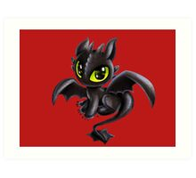 Baby Toothless Art Print