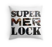 SUPERMERLOCK Throw Pillow