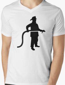 Firefighter Fireman Mens V-Neck T-Shirt