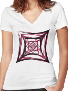 Rosey Tesseract Women's Fitted V-Neck T-Shirt