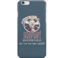 Serenity NOW Health Center & Day Spa (diSTRESSED) iPhone Case/Skin