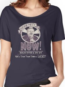 Serenity NOW Health Center & Day Spa (diSTRESSED) Women's Relaxed Fit T-Shirt