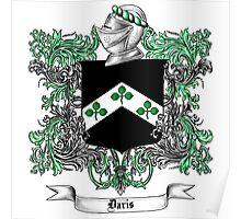 Davis Family Crest 1 Poster