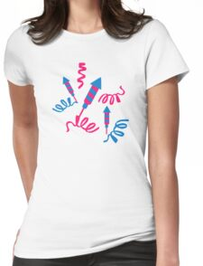 Fireworks rocket Womens Fitted T-Shirt