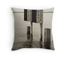 Pay Here Throw Pillow
