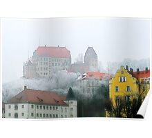 The old town of Landshut in Bavaria, Germany Poster