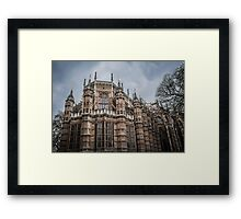 Palace of Westminster Against Dark Clouds Framed Print