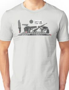 Don't Bring a Knife to a Gun Party Unisex T-Shirt