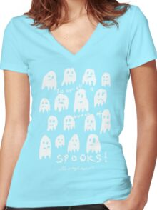 'Bunch of Spooks' Women's Fitted V-Neck T-Shirt