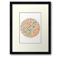 Penis Colour Blind Test Framed Print