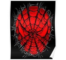 Web face ripped torn tee Poster