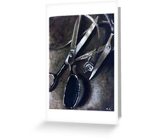Wires and Scissors  Greeting Card