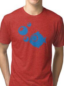 Blue Fish bubbles Tri-blend T-Shirt