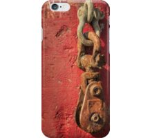Rusty Chain On A Concrete Post iPhone Case/Skin