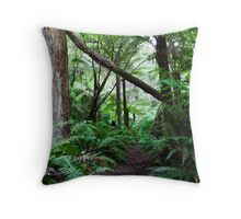 Rain forest pathway Throw Pillow